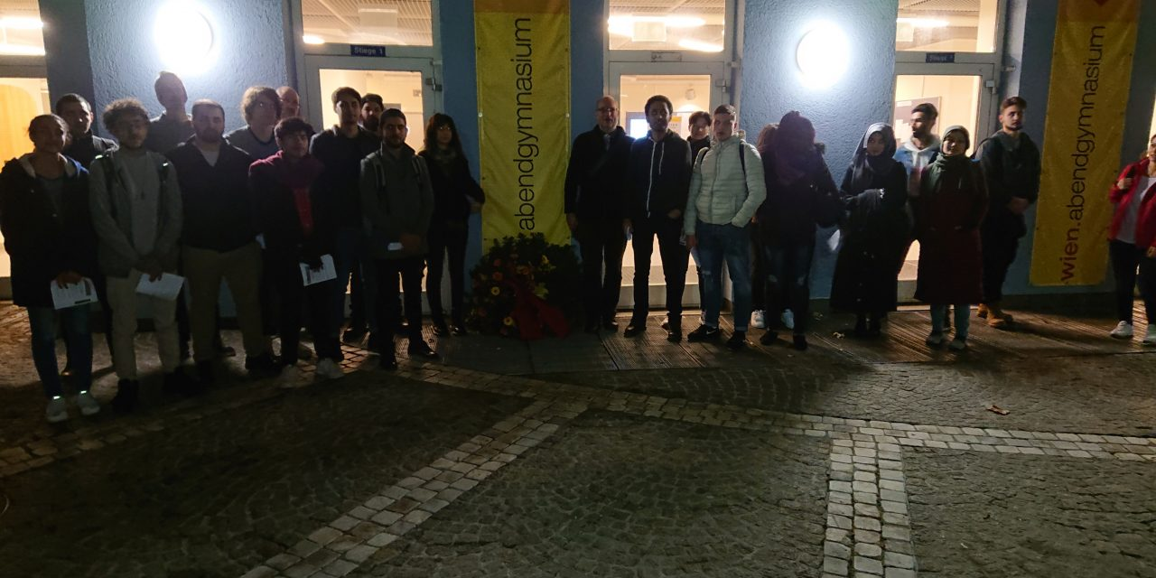 Gedenkfeier des Abendgymnasiums Wien anlässlich der Pogromnacht vom 9.11.1938