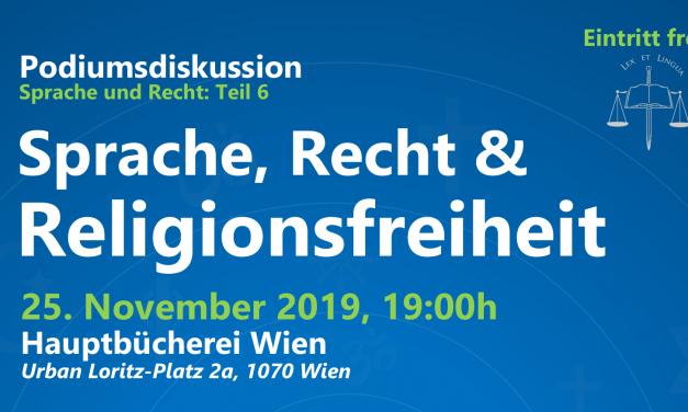 Podiumsdiskussion: Sprache, Recht und Religionsfreiheit