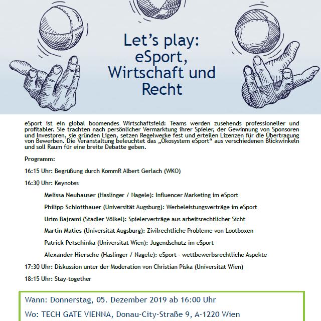 VWA-Inspirationen / Let's play: eSport, Wirtschaft und Recht