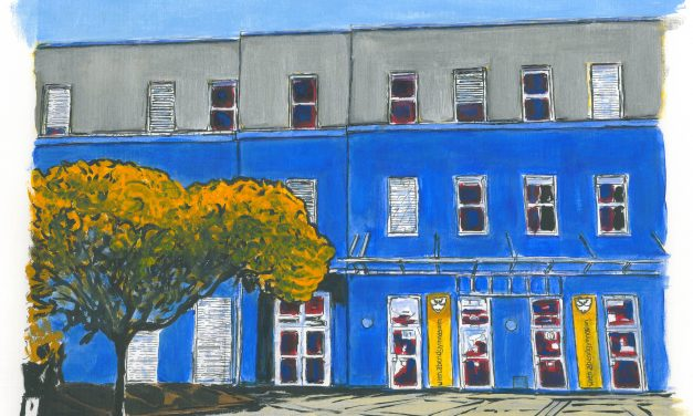 """""""Unser Abendgymnasium""""  gemalt von Chris To (Harlow, England)"""