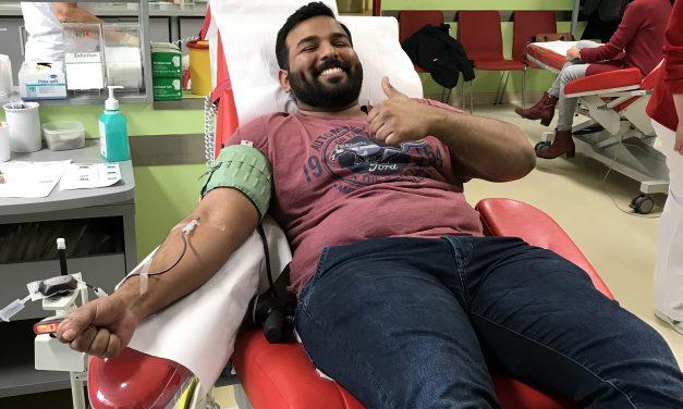 Besuch in der Blutspendezentrale
